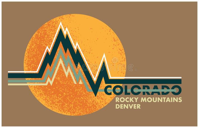 Projeto retro Colorado da cópia ilustração royalty free
