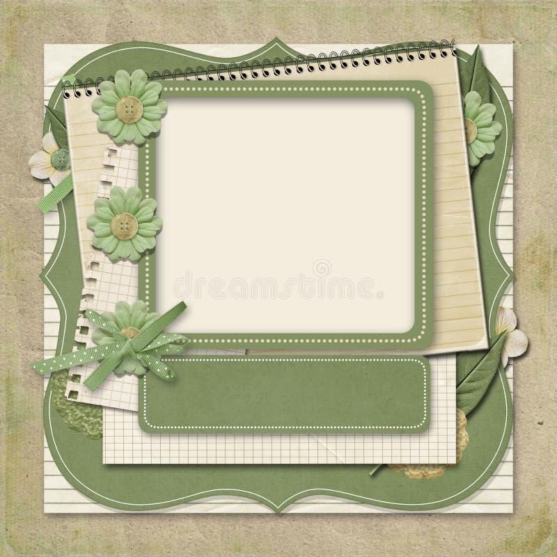 Projeto retro da família album.365. moldes scrapbooking. ilustração royalty free