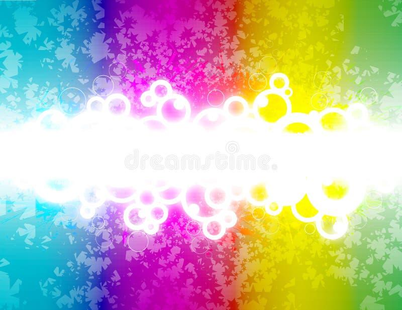 Projeto retro do arco-íris com estrelas ilustração royalty free