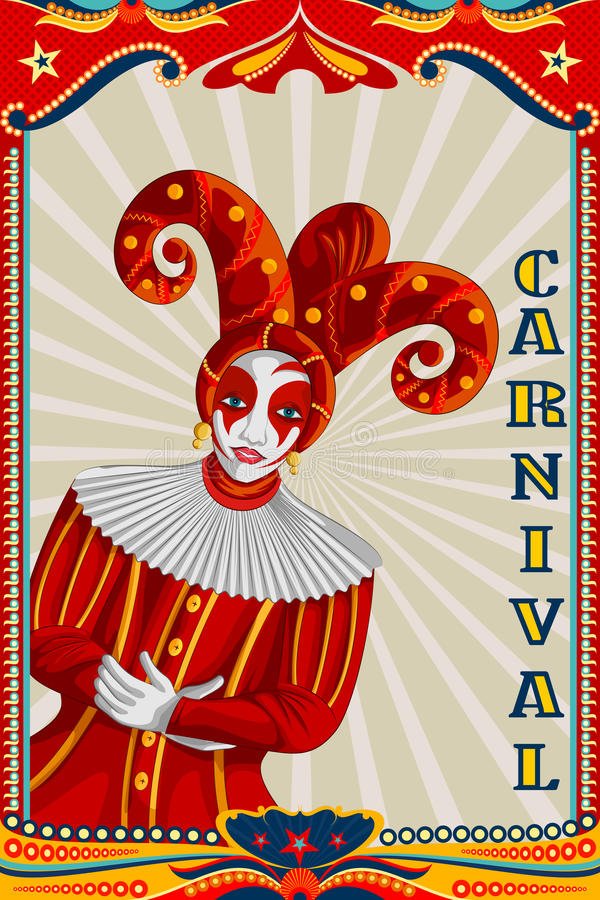 Projeto retro do cartaz da bandeira do partido do carnaval do vintage ilustração do vetor