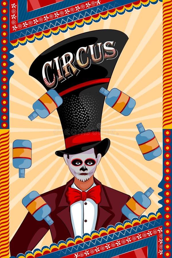 Projeto retro do cartaz da bandeira do partido do circo do vintage ilustração do vetor