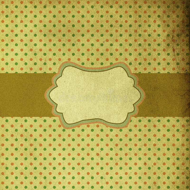 Projeto retro do molde do cartão ilustração do vetor