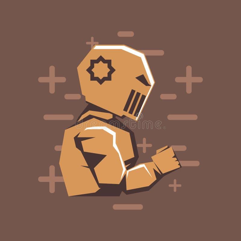 Projeto retro do videogame ilustração stock