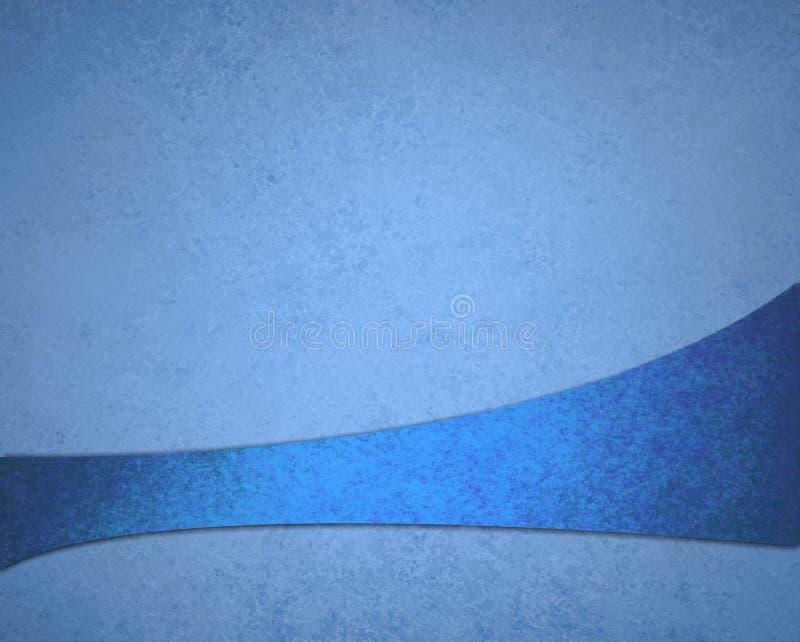 Projeto rico luxuoso da textura do fundo do grunge do vintage do fundo azul abstrato com a listra abstrata antiga elegante da fita ilustração do vetor