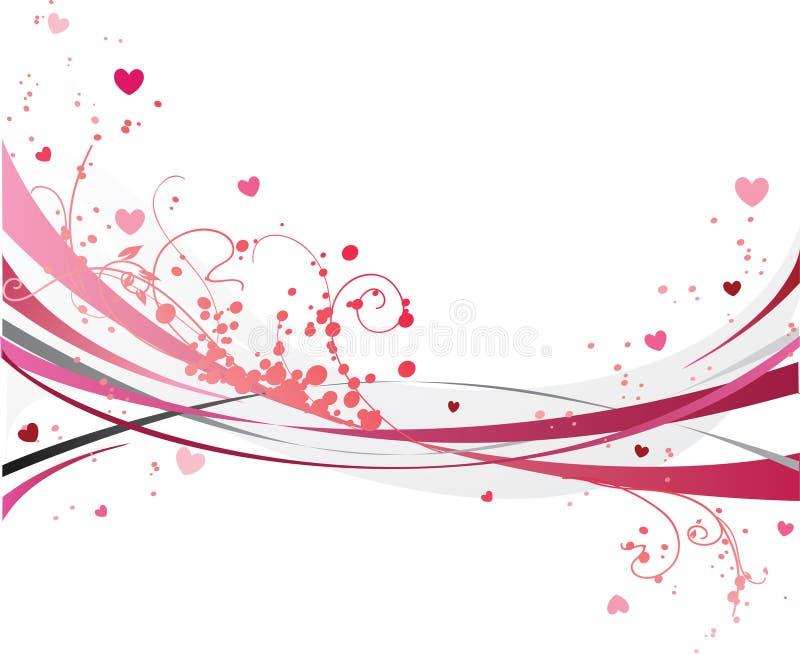 Projeto romântico do dia de St.Valentine ilustração royalty free