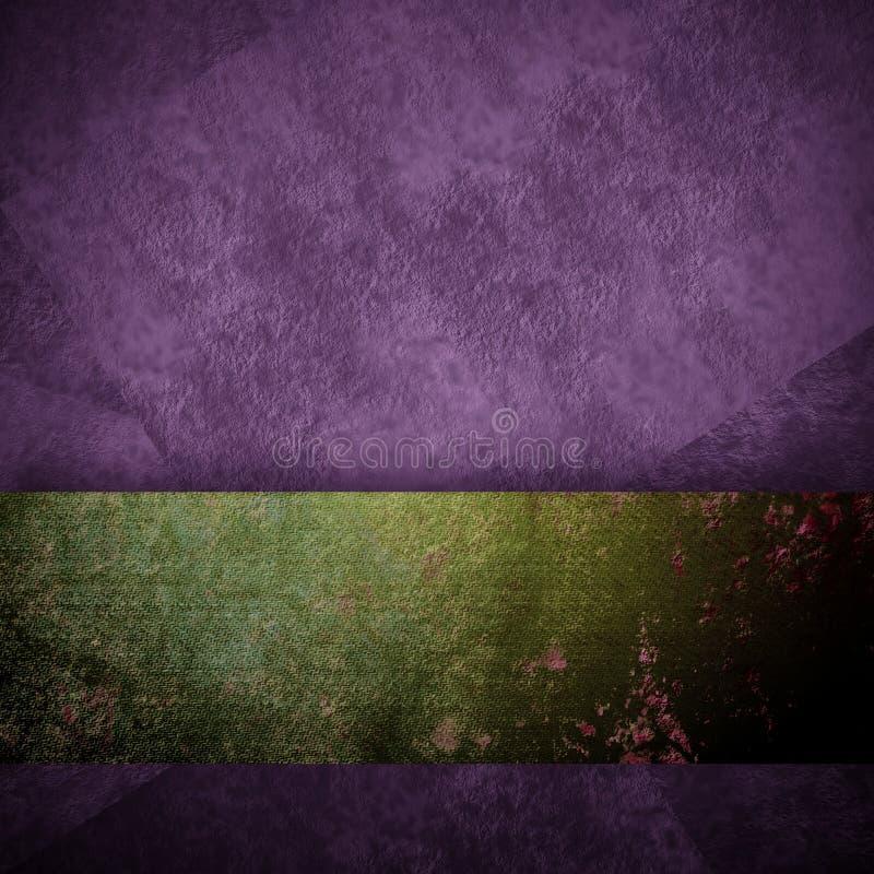 Projeto roxo do preto do fundo com fundo do grunge do vintage ilustração do vetor