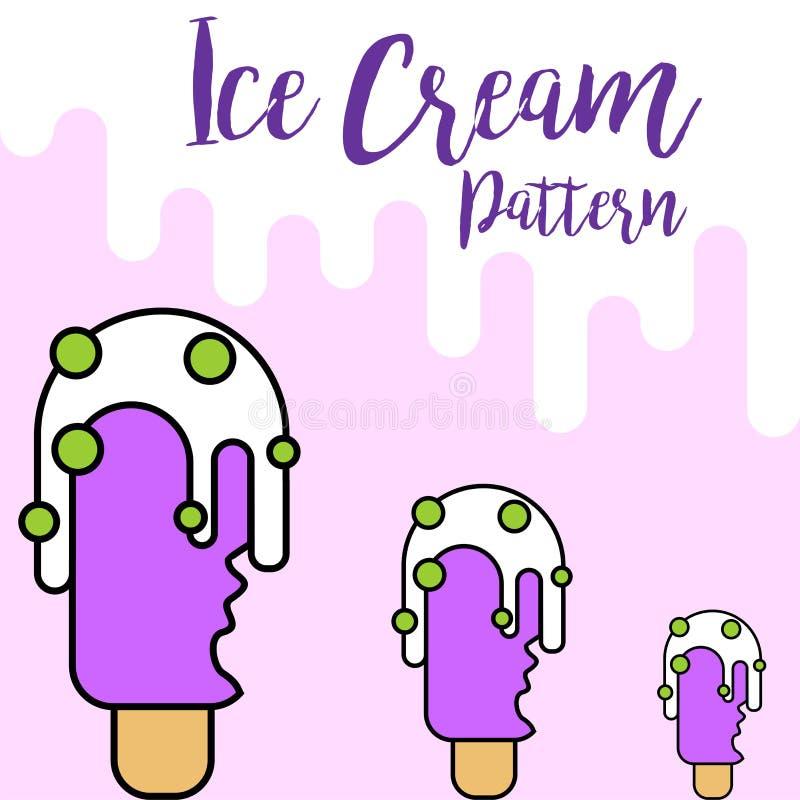 Projeto roxo do teste padrão do gelado da cópia ilustração royalty free