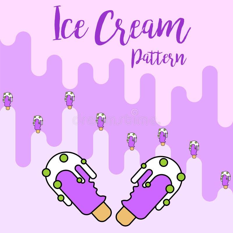 Projeto roxo do teste padrão do gelado da cópia ilustração stock
