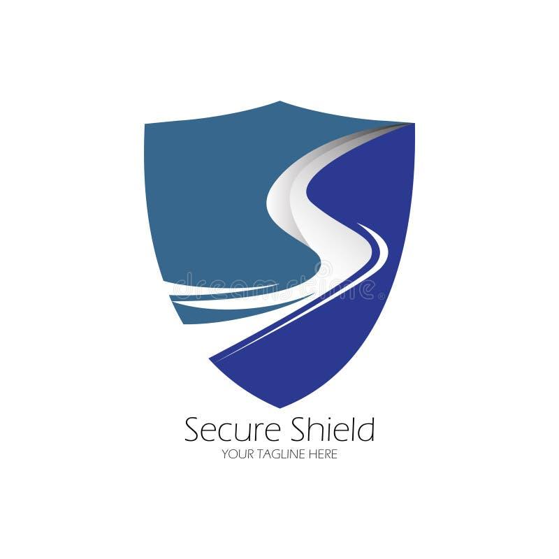 Projeto seguro do logotipo do protetor ilustração do vetor