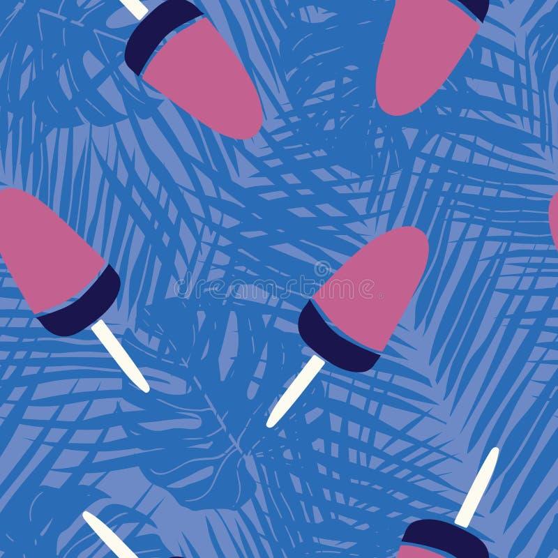 Projeto sem emenda do teste padrão do gelado doce ilustração royalty free