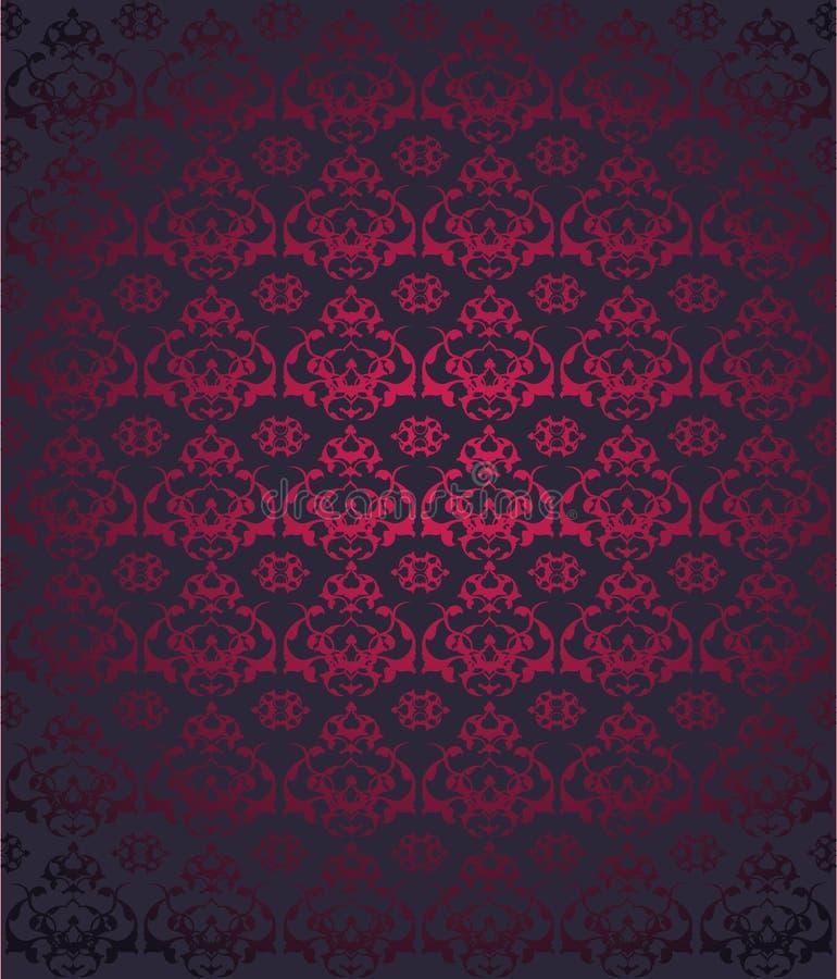 Projeto sem emenda turco do otomano tradicional ilustração stock