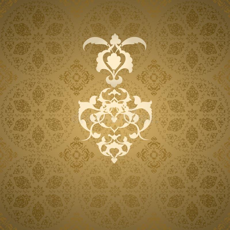 Projeto sem emenda turco do otomano tradicional ilustração do vetor