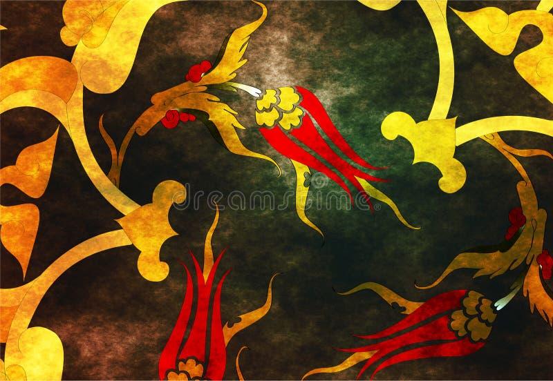 Projeto sem emenda turco do otomano tradicional ilustração royalty free