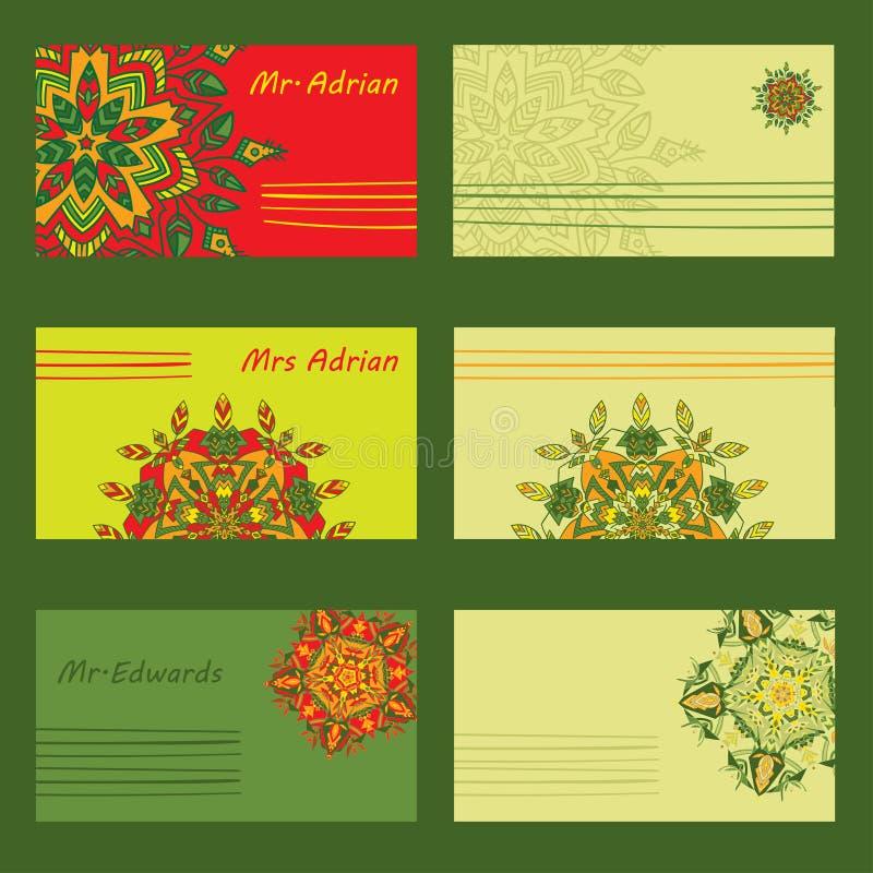Projeto simples ajustado para letras, convites e envelopes do feriado ilustração do vetor