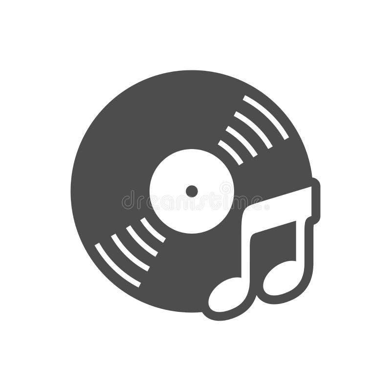 Projeto simples do ícone da música do CD audio ilustração stock