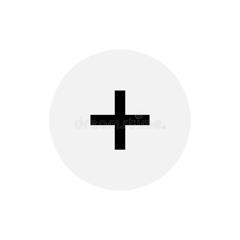 Projeto simples do símbolo positivo do sinal ilustração stock