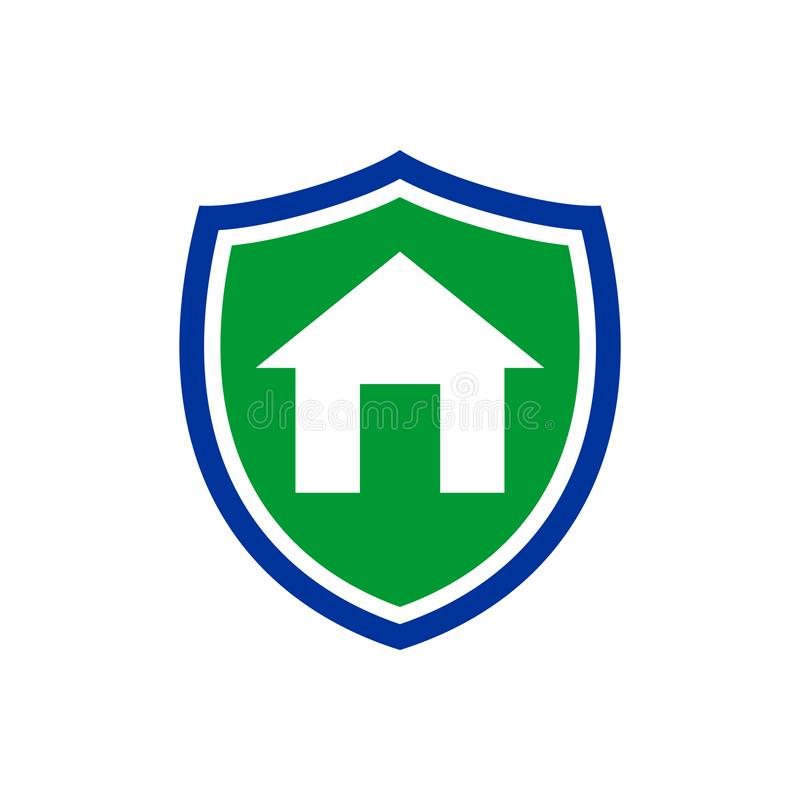 Projeto simples do símbolo do seguro do protetor de Homeguard ilustração do vetor