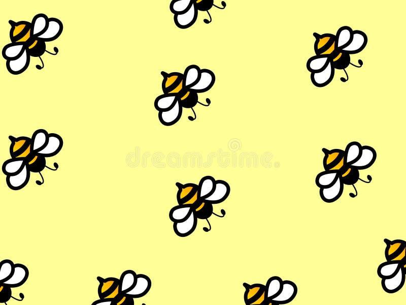 Projeto simples maravilhoso de abelhas trabalhadoras ilustração do vetor