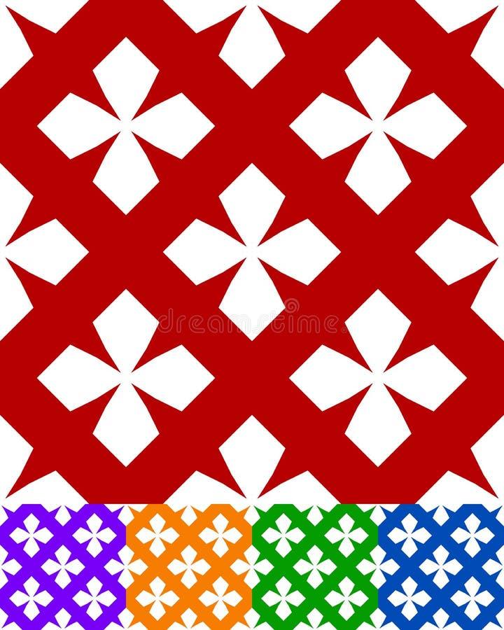 Projeto simplificado de uma matéria têxtil popular clássica, bordado, tapete ilustração stock