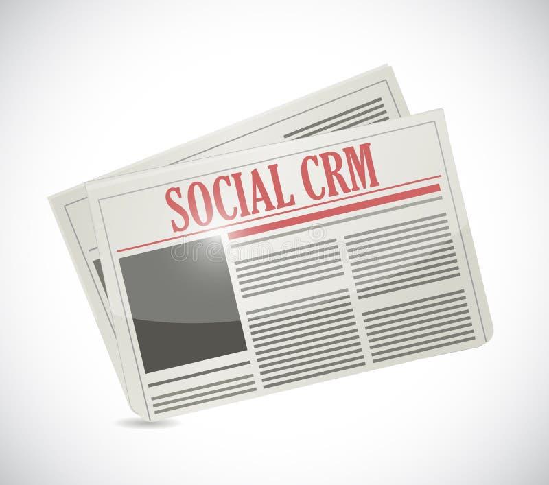 Projeto social da ilustração do jornal do crm ilustração do vetor