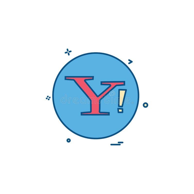 projeto social do vetor do ícone de yahoo ilustração stock