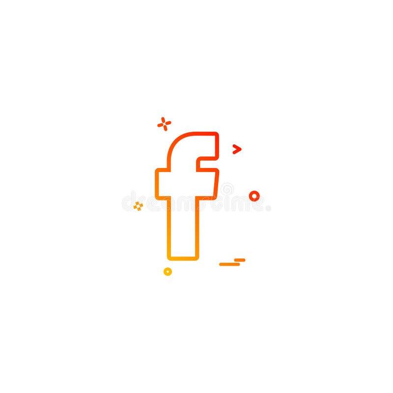 projeto social do vetor do ícone do facebook ilustração stock