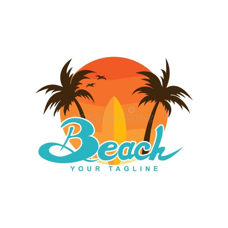 Projeto surfando do logotipo ilustração stock
