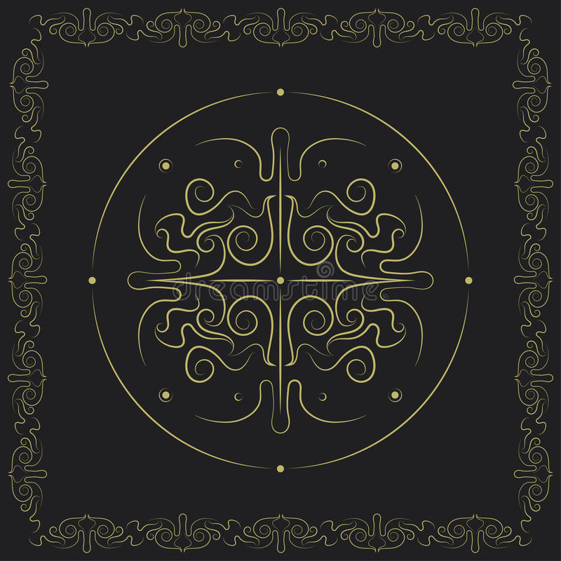 Projeto swirly simétrico decorativo ilustração stock