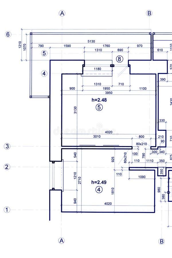 Projeto técnico, fundo arquitetónico parte do constructio foto de stock royalty free