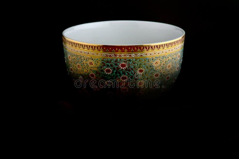 Projeto tailandês da porcelana fotos de stock