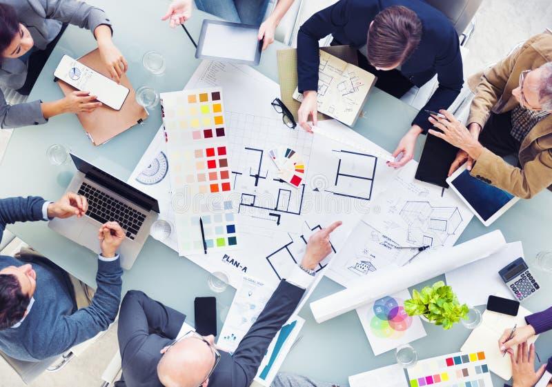 Projeto Team Planning para um projeto novo imagem de stock
