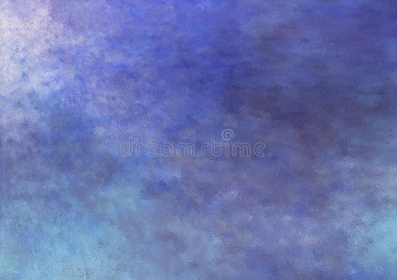Projeto textured nebuloso azul do fundo do sum?rio ilustração do vetor
