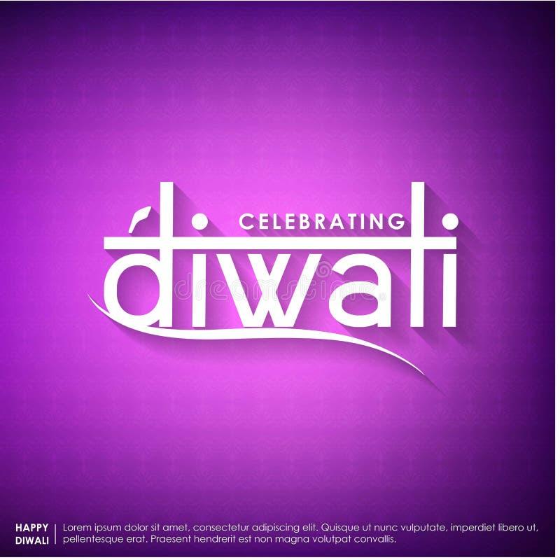 Projeto tipográfico de Subh Diwali com fundo abstrato ilustração royalty free