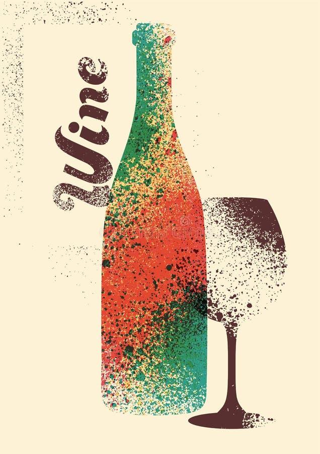 Projeto tipográfico do cartaz do estilo do respingo do estêncil do grunge do vintage do vinho Ilustração retro do vetor ilustração do vetor