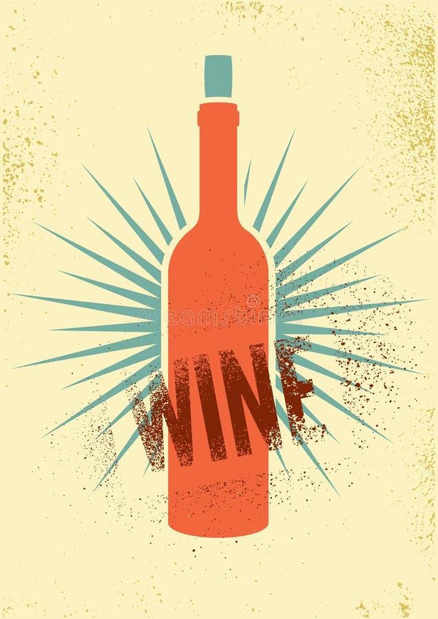 Projeto tipográfico do cartaz do estilo do respingo do estêncil do grunge do vintage do vinho Ilustração retro do vetor ilustração stock