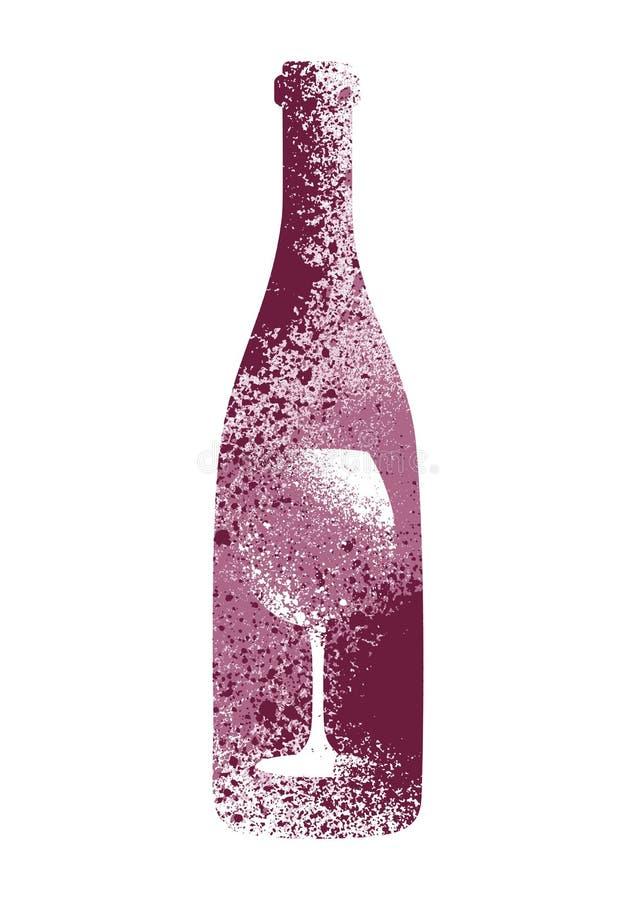 Projeto tipográfico do cartaz do estilo do respingo do estêncil do grunge do vintage do vinho Ilustração retro do vetor ilustração royalty free