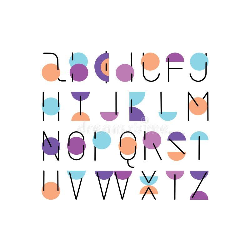 Projeto tirado do alfabeto do ABC do vetor mão mínima ilustração royalty free