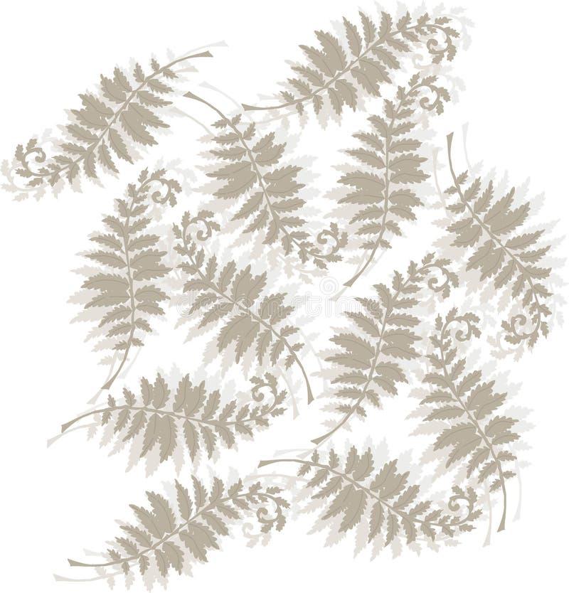 Projeto Tonal do fern ilustração do vetor