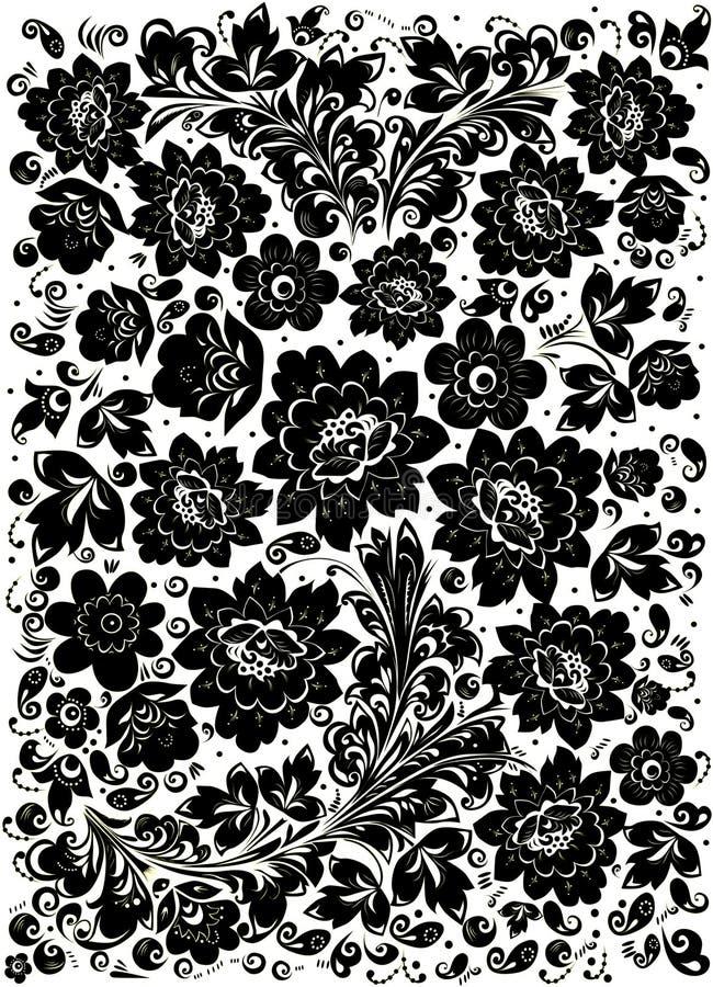 Projeto tradicional preto ilustração do vetor