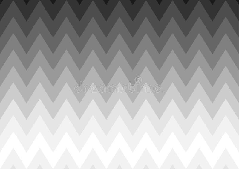Projeto tribal do fundo com branco da cor do inclinação ao preto ilustração royalty free