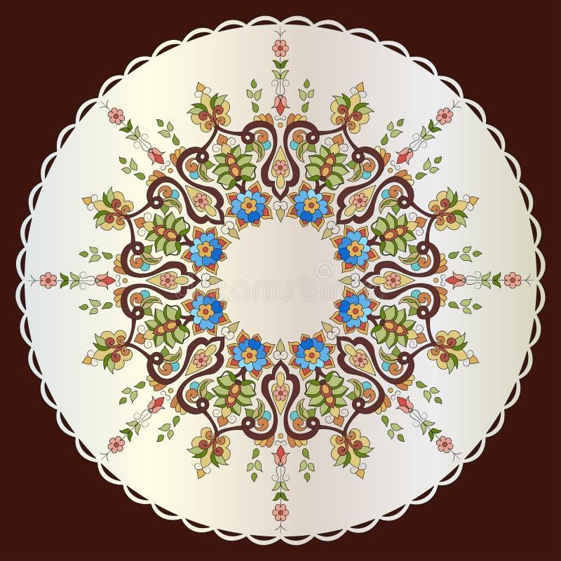 Projeto turco setenta nove do vetor do teste padrão do otomano antigo ilustração royalty free