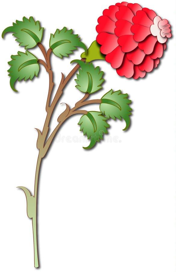 Projeto turco tradicional da rosa da telha ilustração royalty free
