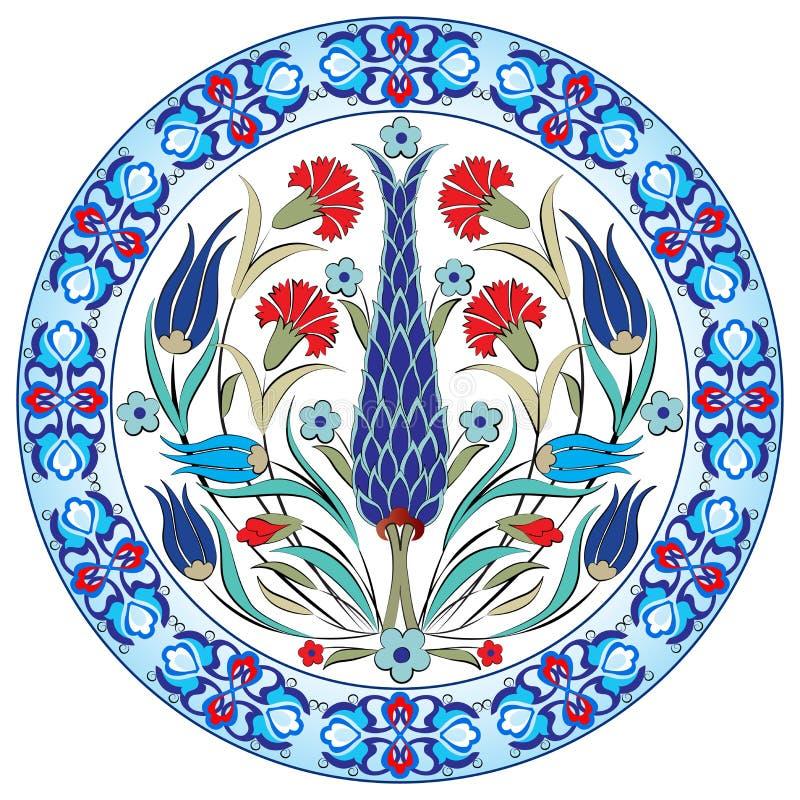 Projeto turco trinta e nove do vetor do teste padrão do otomano antigo ilustração royalty free