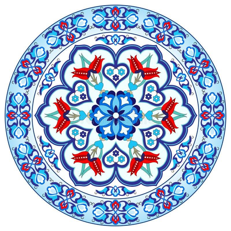 Projeto turco trinta e oito do vetor do teste padrão do otomano antigo ilustração stock