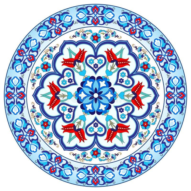 Projeto turco trinta e sete do vetor do teste padrão do otomano antigo ilustração do vetor