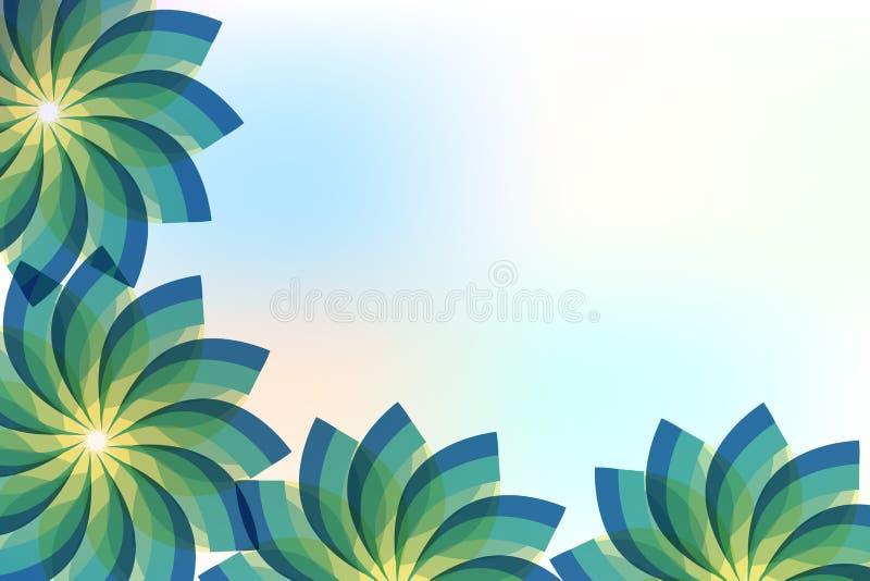 Projeto verde abstrato da imagem do vetor do fundo do quadro das flores ilustração do vetor