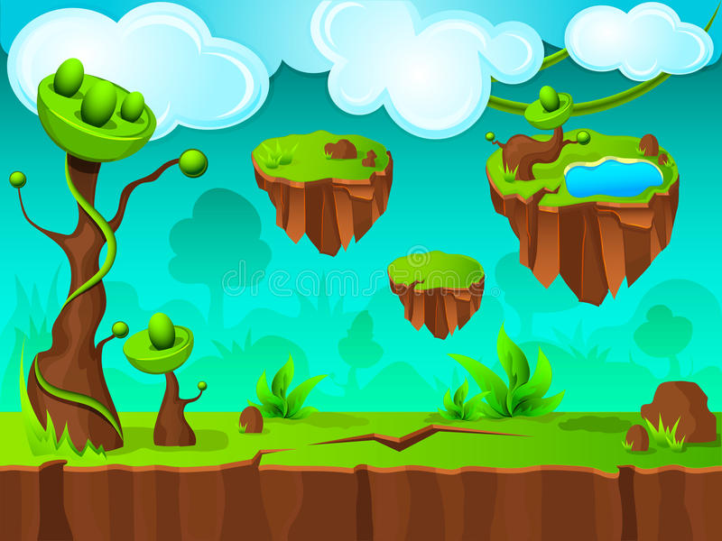 Projeto verde da camada do jogo da terra ilustração stock