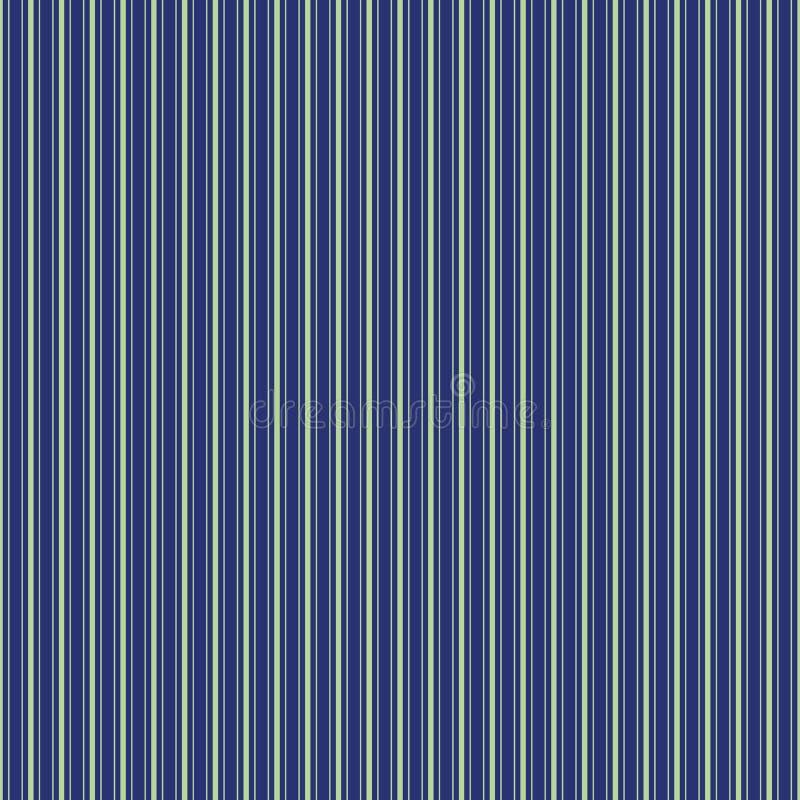 projeto verde fino da listra do tecido para camisas da Multi-largura Teste padr?o sem emenda do vetor na obscuridade - fundo azul ilustração royalty free