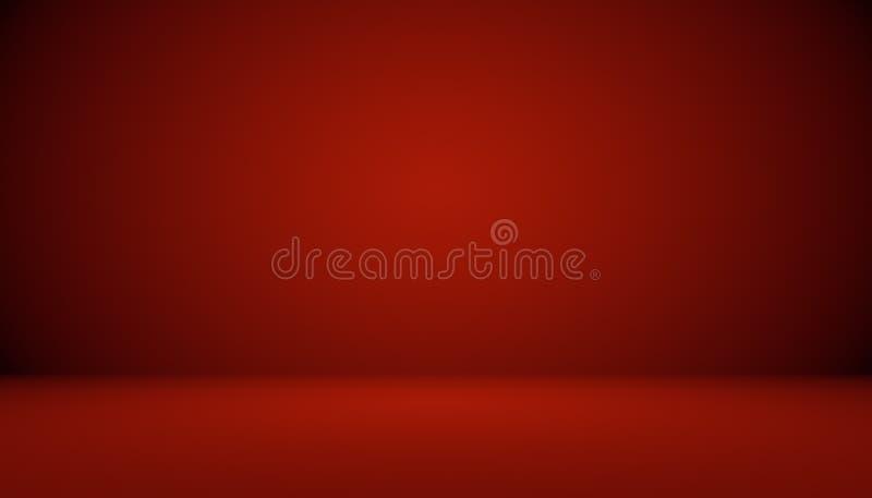Projeto vermelho abstrato da disposição dos Valentim do Natal do fundo, estúdio, sala, molde da Web, relatório comercial com círc ilustração stock