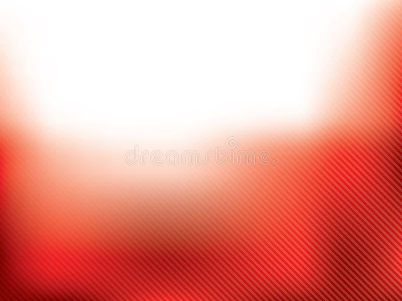 Projeto vermelho abstrato do folheto com listras ilustração royalty free